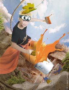 漩涡鸣人-火影忍者CosPlay